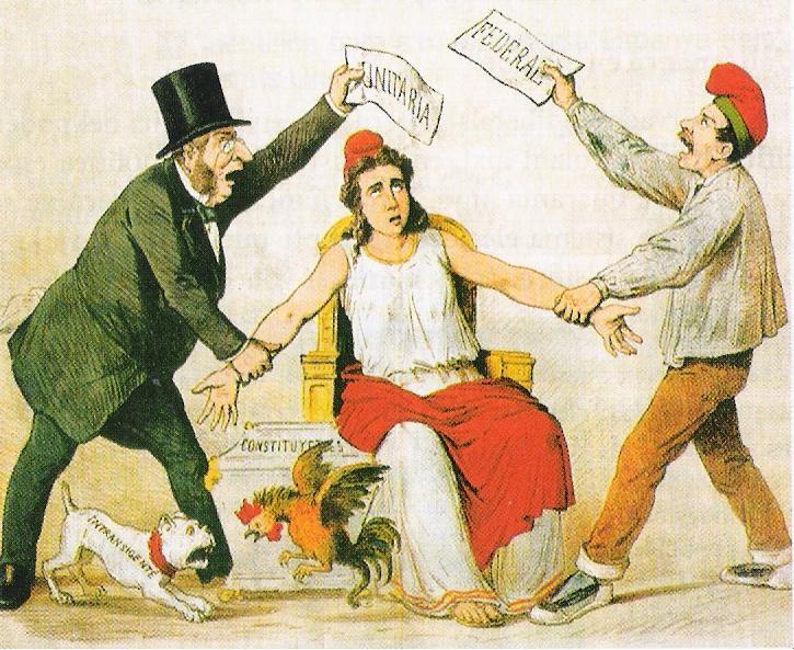 Republica federal o unitaria. Siglo XIX